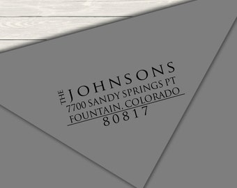 Return Address Stamp - Block Font