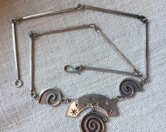 Whimsical Sterling Necklace -- 1002