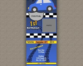 Car's Birthday Invitation Ticket - DOWNLOAD