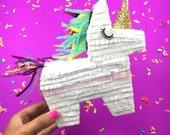 Unicorn Pinata Gift Box, Unicorn Party Favor, Bridesmaid Proposal, Mini Pinatas, Unicorn Party, Unicorn Birthday, Listing for 1 Piñata