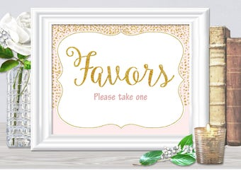 Favors SIGN for a wedding, bridal or baby shower etc. in THREE sizes, engagment party sign, bachelorette sign, 29BR, 67BA