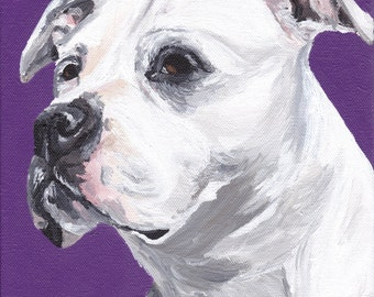 Pit Bull art print from original pit bull painting
