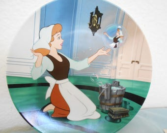 """Disney Cinderella Collector Plate """"Oh Sing Sweet  Nightingale""""/3rd In The Knowles China Cinderella Series/1989/New In Box/Lovely!"""