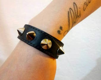 Leather Bracelet with smelly from 1 cm
