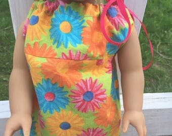 Colored daisy american girl pillowcase dress