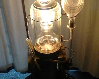 steampunk mad scientist lamp