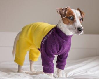 Dog pajamas, Dog jammies, Dog fleece onesie, Custom dog pajamas, Dog fleece clothes, Dog onesie, Warm dog pajama, Dog overall