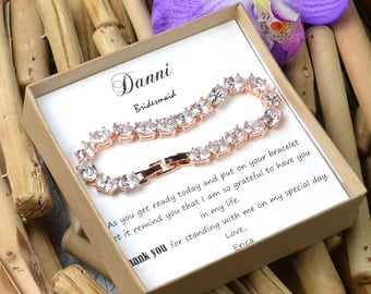 Rose Gold Bridesmaid Jewelry, Gold, silver,Crystal Bridal Bracelet, Wedding Bracelet, Wedding Jewelry, Crystal Bracelet