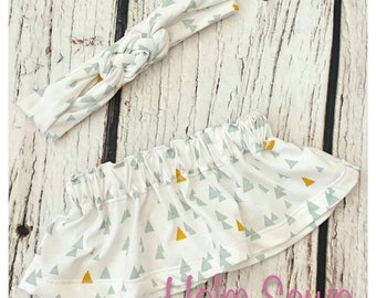Skirt and headband set