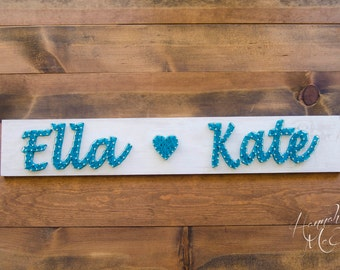 Personalized Name Wood Sign, String Art, Wall Art, Wood Wall Decor, Personalized Signs