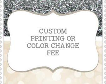 CUSTOM Printing Fee | Double Side Favor Tag | Custom Color Change