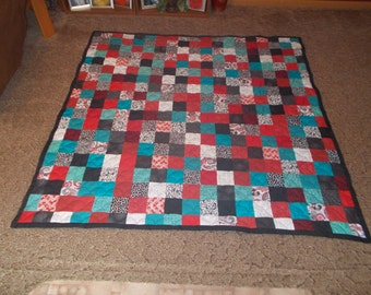 Custom Made Quilt - Patchwork Quilt - Twin Size Quilt - Everything Supplied