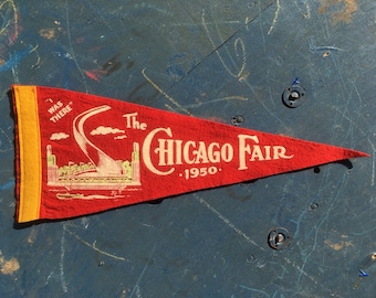 Vintage Chicago Fair Mini Pennant