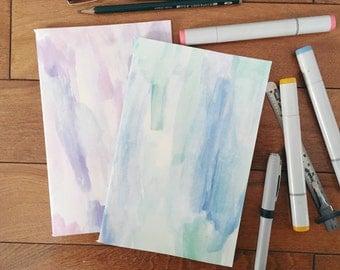 Purple Green Cute Sketchbooks, blank notebook, bullet journal, travel notebook, travel journal, sketchbooks, gratitude journal, of the town,