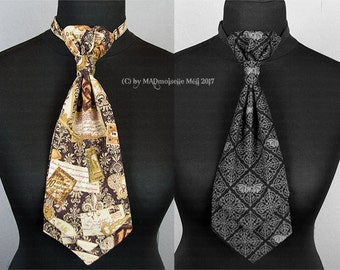Plastron tie for the steampunk or Gothic gentleman