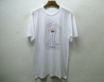 Vintage 80' APPLE MACINTOSH Steve Jobs Mac Promo Tshirt Sz M