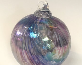 Purple Hand Blown Glass Ornament
