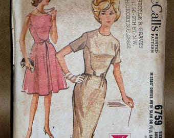 McCalls 6759 dress sewing pattern