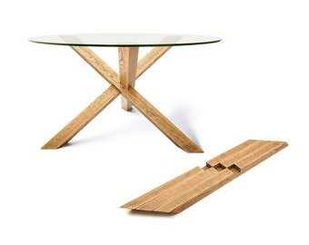 aged look 1x3 oak dining table puzzle round dining table round kitchen