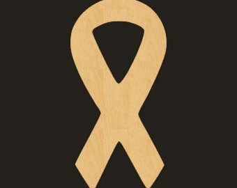 Unfinished Wood AWARENESS RIBBON Cutout - BS011