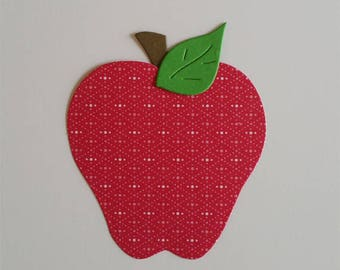 Apple Die Cuts-Available in Either Patterned or Solid Colors