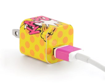 TechTattz Comics Kapow USB Charger Decal Skin Wrap Sticker