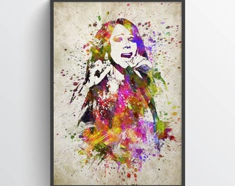 Mariah Carey Poster, Mariah Carey Print, Mariah Carey Art, Mariah Carey Decor, Home Decor, Gift Idea