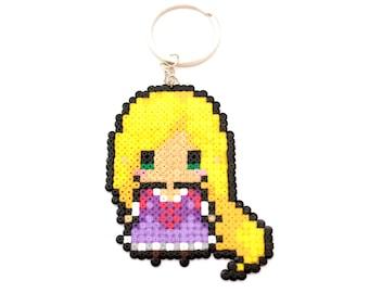 Rapunzel Hama Beads Keychain