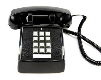 Meticulously Refurbished Vintage Touch Tone Telephone - CORTELCO - Black