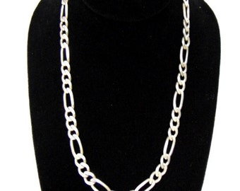 Vintage Estate .925 Sterling Silver Chain Necklace Made in Italy 50.4g E957