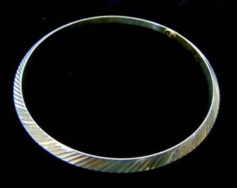 Womens Vintage .925 Sterling Silver Bangle Bracelet, 6.1g #E3116