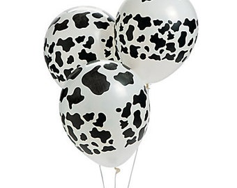 12/Cow Theme Party Balloons  /Farm theme / Cow Party theme