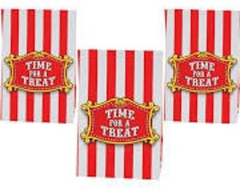 12 /  Carnival Favor Bags/ Bags / Circus treat bags / Goody bags