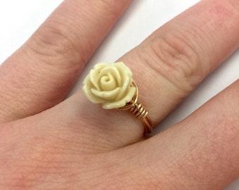 Acrylic Rose Ring