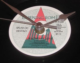 "Spear of destiny prisoner of love  7"" vinyl record clock"