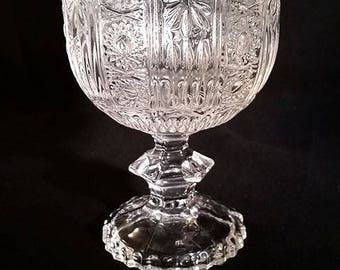 Beautiful Pressed Glass Compote Bowl