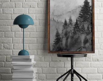 Coniferous forest. Printable art. Instant download. High resolution