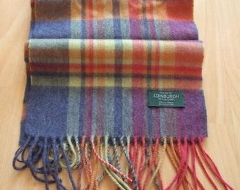 House Of Edinburgh Royal Mile 100% Cashmere Plaid Scarf Made in Scotland