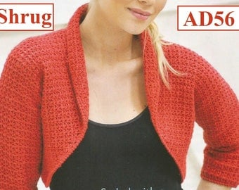 Instant Download - PDF- Pretty Shrug Crochet Pattern  (AD56)