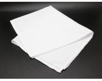 Fixture Displays 12 PK of Cloth Dinner Napkins Restaurant Napkins Hemmed Edges 15985-WHITE-12PK