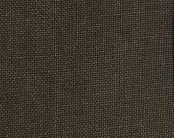 Dark Brown Woven - Upholstery Fabric by The Yard