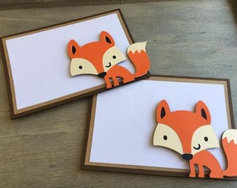 Woodland Party Fox Food Labels - Tent Labels, Birthday Party Labels, Baby Shower, Party Decorations, Woodland Party