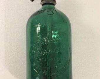 Argentina Seltzer Bottle 1 Liter ALBERTO FERRARI green soda