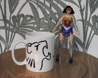 I am Woman...hand painted mug