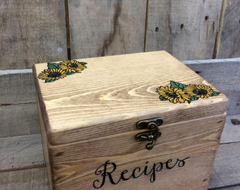 Recipe box-jewelry box-money box-trinket box-wood box