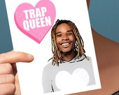 Funny Valentine Card | Fetty Wap | New Parents Card Dad To Be Funny Valentines Day Will You Be Mine Mom Gift Trap Queen Boyfriend Valentine