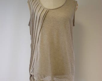 Summer transparent  blouse, L size. Made of pure linen, artsy look.
