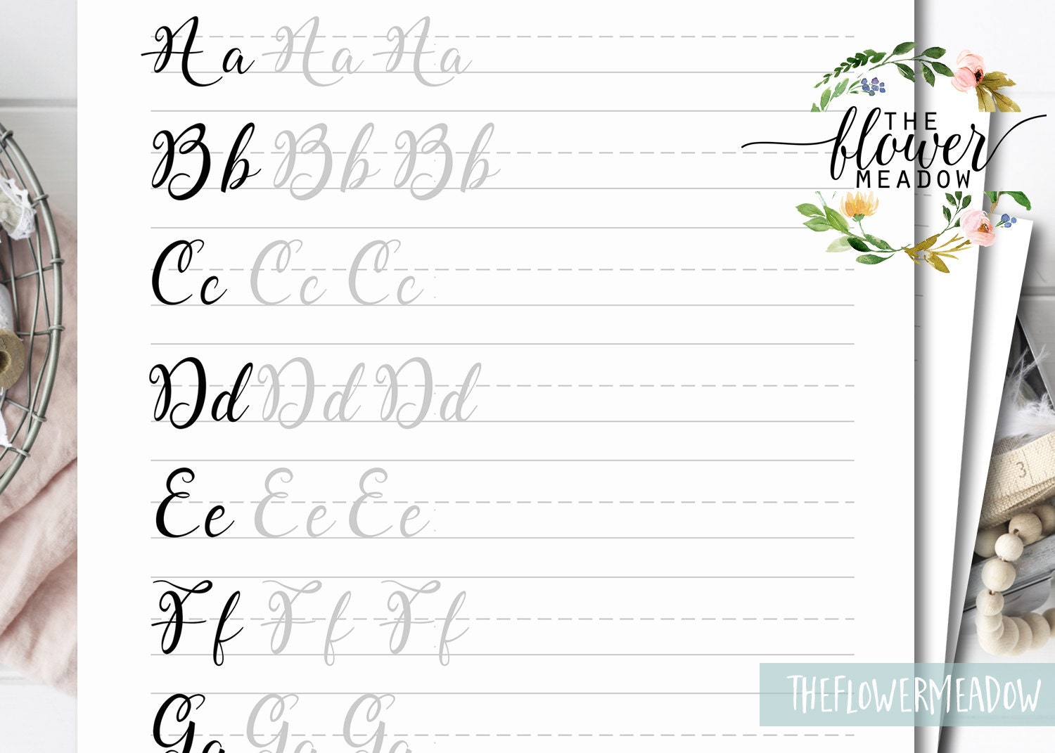 Printable brush lettering worksheets tutorial learn