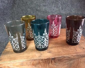 Vintage Moroccan Tea Glasses