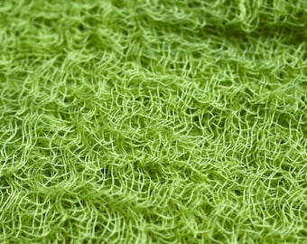 Green-Yellow Hand Dyed Cheese Cloth